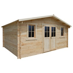 Casetta in legno massello 19,82m² PLUS - listoni 28mm Gardy Shelter